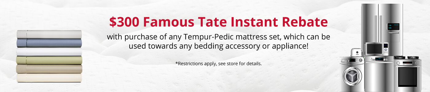 $300 Famous Tate Instant Rebate